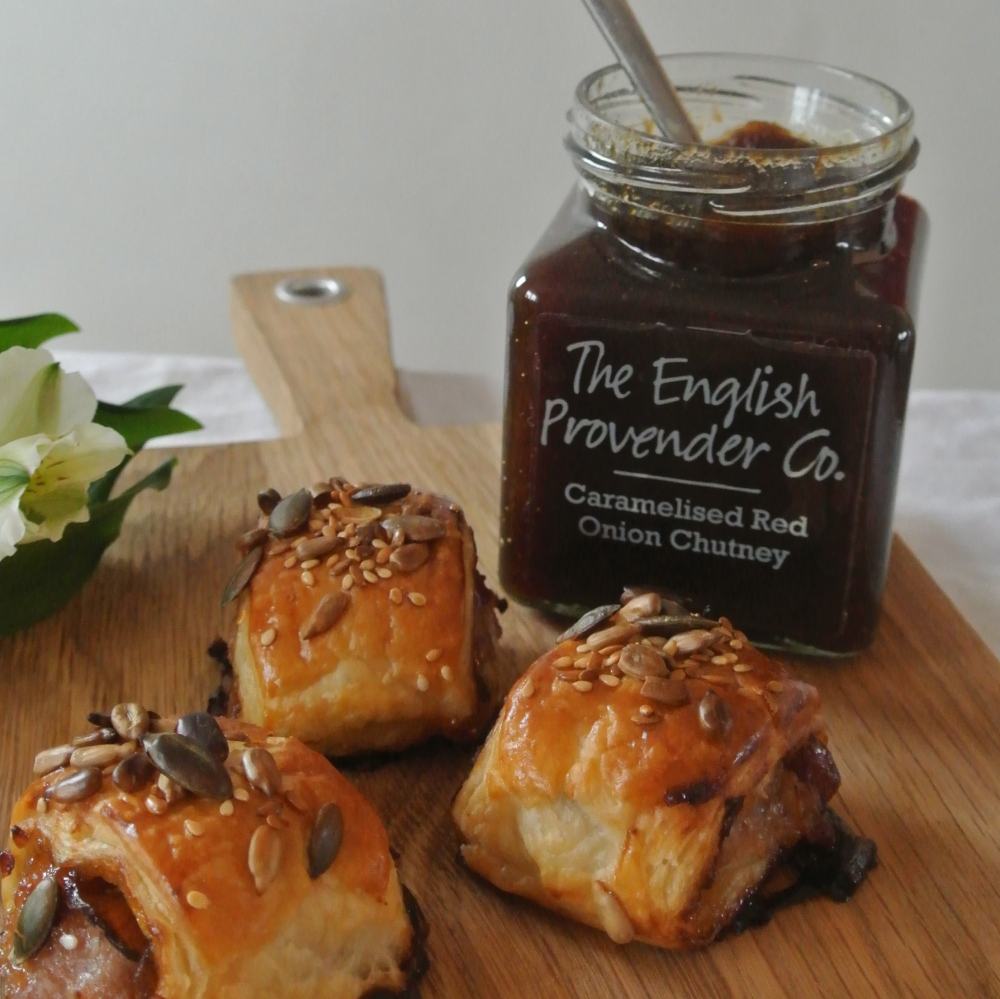 Caramelised Red Onion Sausage Rolls